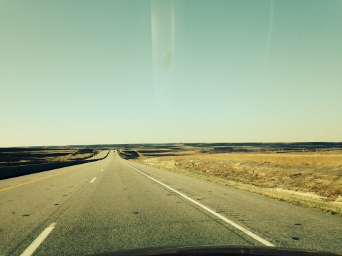 Burnt grasslands in Kansas.