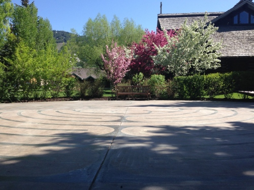 The labyrinth at St. John's Episcopal Church in Jackson, Wyoming.