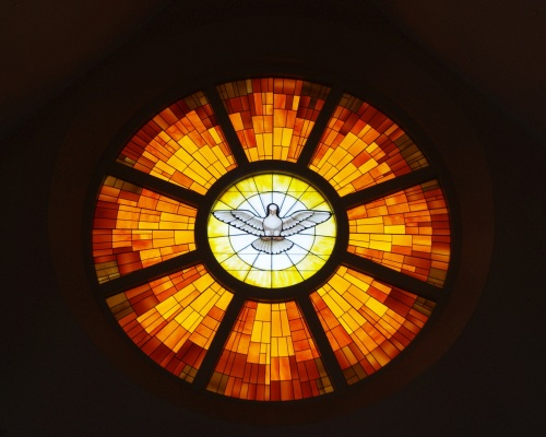Christ_the_King_Catholic_Church_(Ann_Arbor,_Michigan)_-_interior,_Holy_Spirit_window
