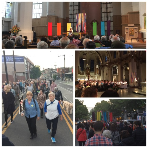 Images of our walk through Capitol Hill, starting at St. Mark's Episcopal Cathedral and ending at St. James Roman Catholic Cathedral.