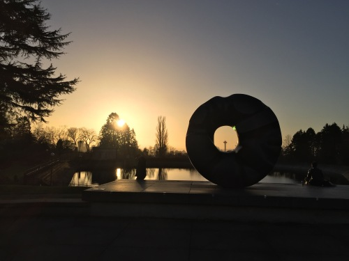 Sunset from Volunteer Park, Seattle, Washington -- December 20, 2016